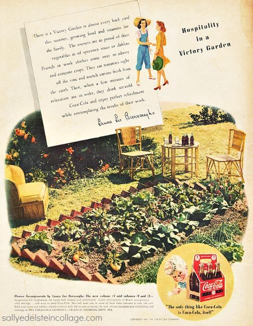 vintage illustration victory garden 1940s
