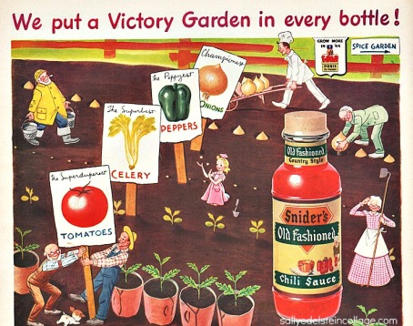 vintage art & advertising illustration garden 1940s