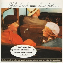 Vintage Car ad 1930s passengers in car