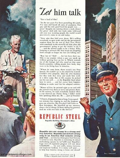 vintage illustration policeman city 1940s