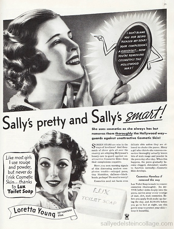 Vintage soap Lux ad photo 1930s woman beauty