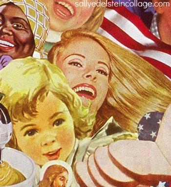 art collage vintage ad images women