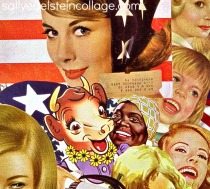 art collage vintage images women 1950s