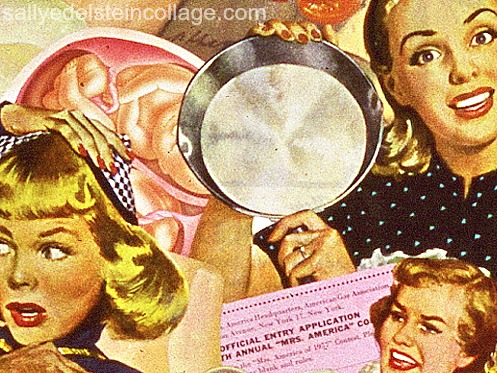 art collage female 1950s stereotypes housewives