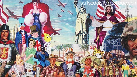art collage of appropriated images