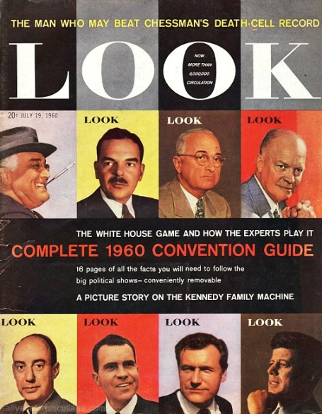 Vintage cover Look Magazine political candidates for president 1960