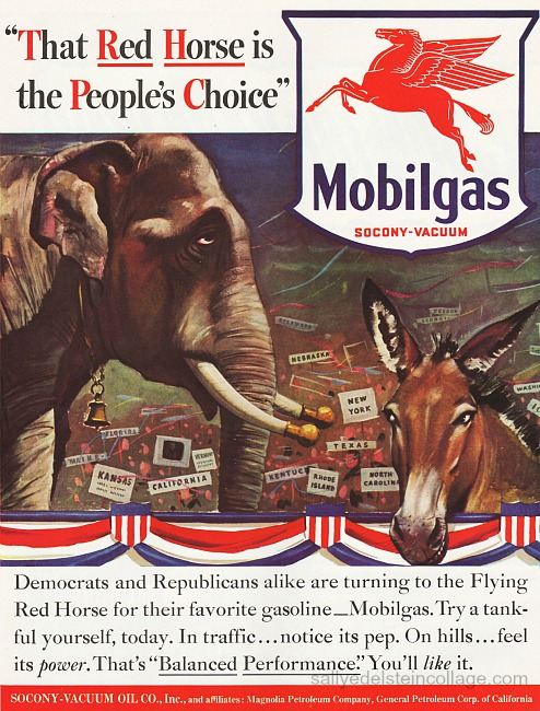 vintage gas advertisement republiccan and democrats