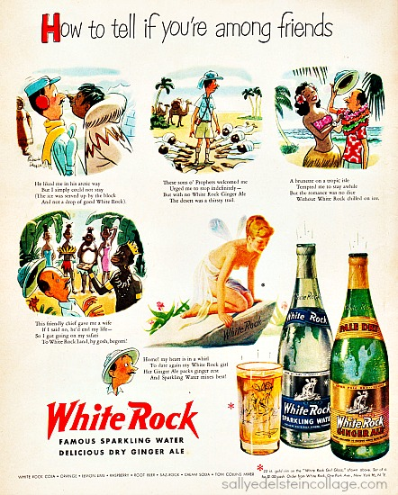 Vintage ad art & advertising cartoons 1950s