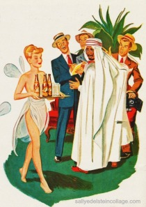 vintage illustration not pc Muslim