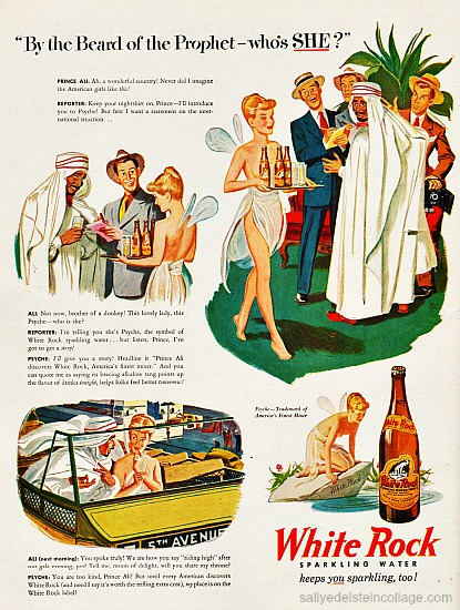 Art & Advertising vintage illustration Arab sheik