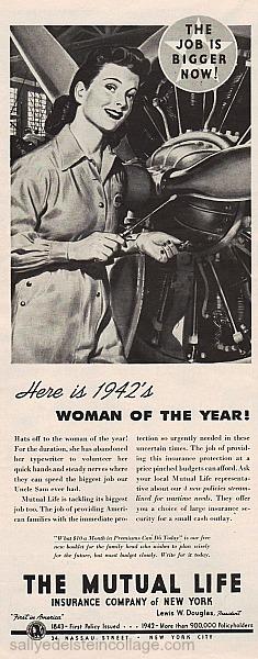 vintage illustration WWII Rosie the Riveter