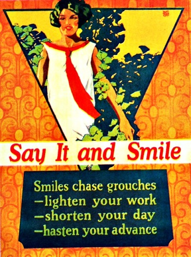Vintage motivational  business poster Mather Poster Company 1920s