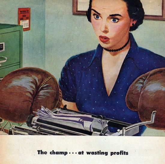 vintage illustration secretary