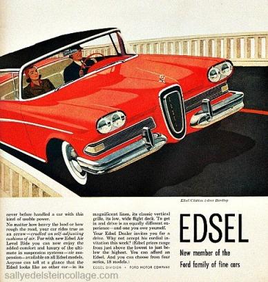 Vintage illustration Edsel car1950s