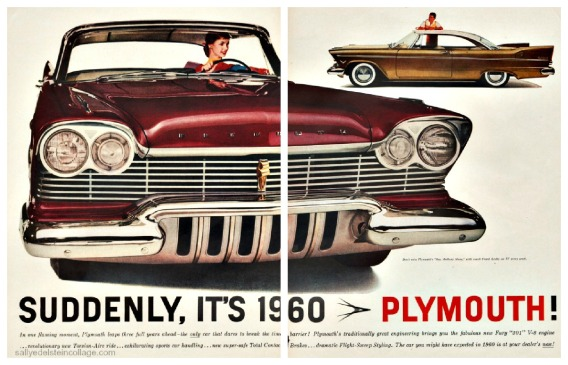 vintage car ad Plymouth 1957