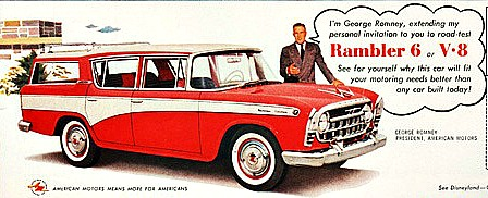Vintage Car Ad Rambler with George Romney 1957