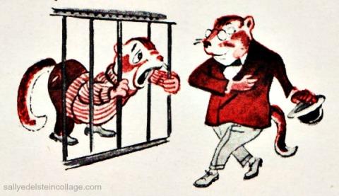 vintagecartoon illustration chipmunks 1950s