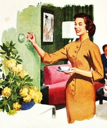 vintage illustration 50s housewife
