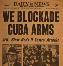 vintage newspaper headlines missle-crisis 1962