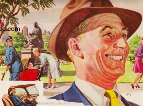 vintage illustration man wearing hat