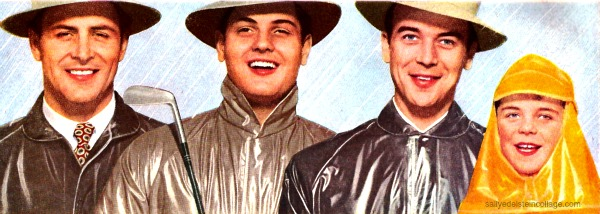 vintage picture men in raincoats 1950