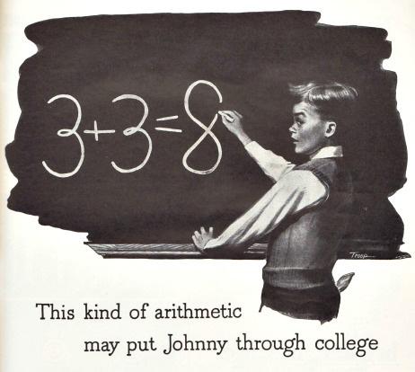 Vintage illustration school boy 1940s