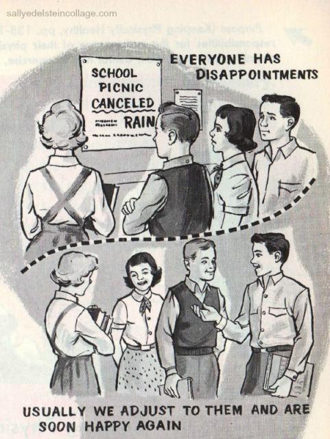 Vintage childrens schoolbook illustration