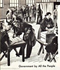 vintage illustration voting
