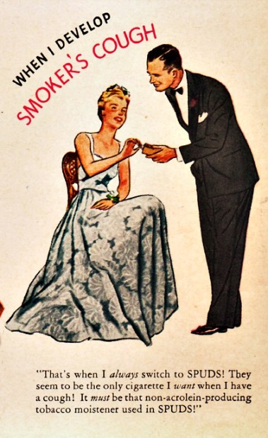 Vintage Cigarette Ad 1943 illustration