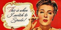 Vintage Cigarette Ad Spud