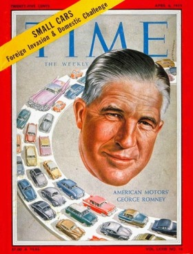Vintage magazine cover illustration George Romney