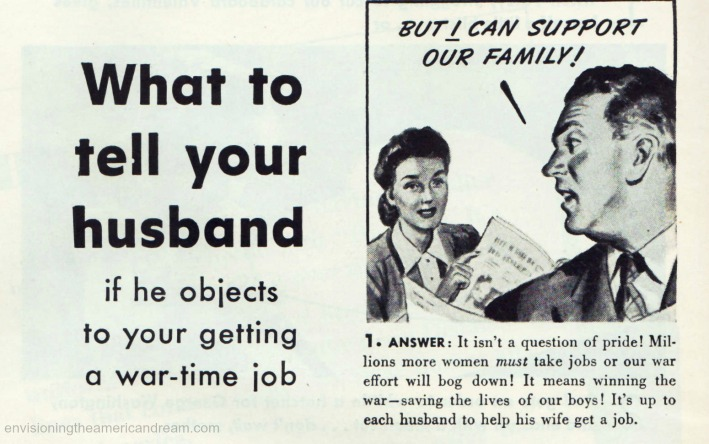 Vintage Ad Kleenex 1944 WWII Women war work