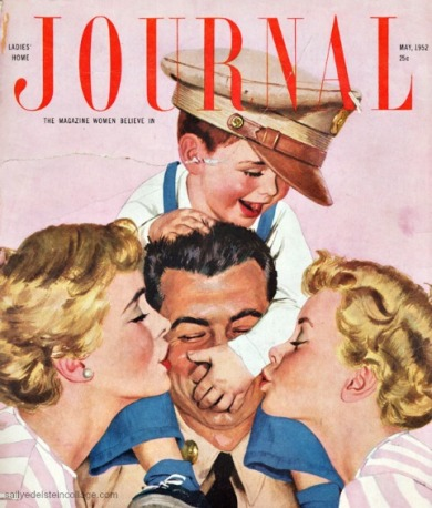 vintage illustration by Al Parker postwar family