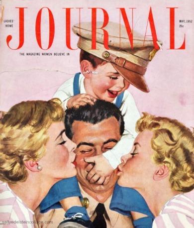 vintage illustration by Al Parker postwar family