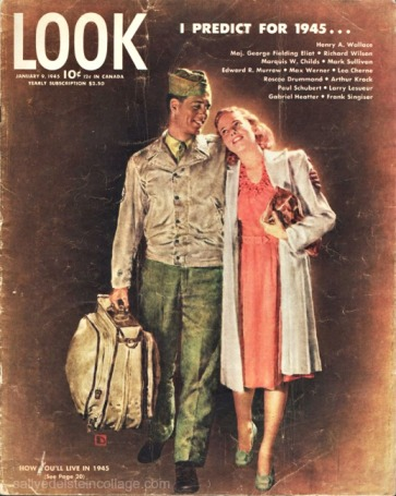 Vintage Look Magazine Cover 1/45 Illustration Douglass Crockwell WWII Vet