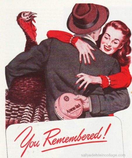Vintage illustration couple embracing 1940s