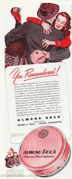 Vintage Ad Almond Roca Candy 1947