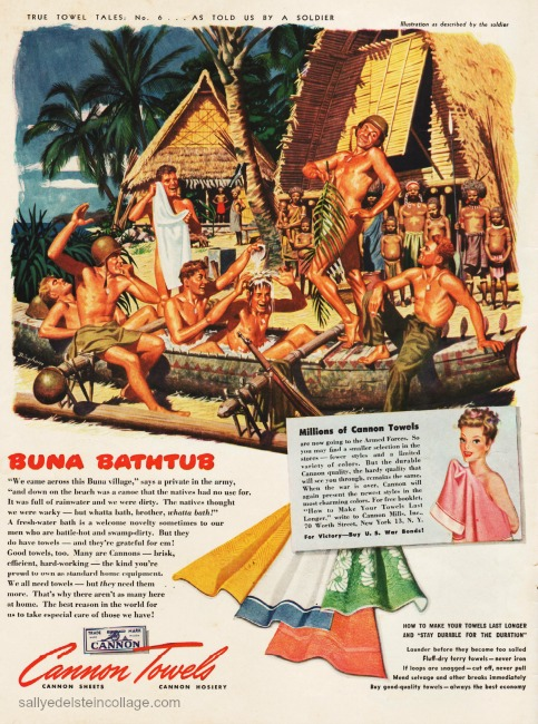 WWII Vintage Ad vintage illustration soldiers in Pacific