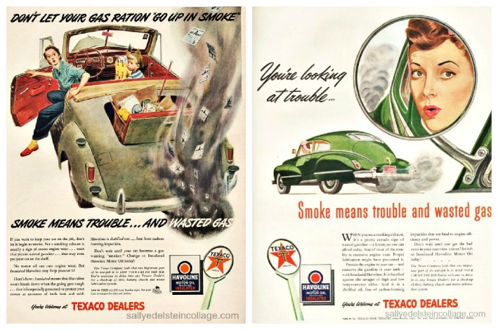 Vintage Ads WWII Gas rationing Texaco