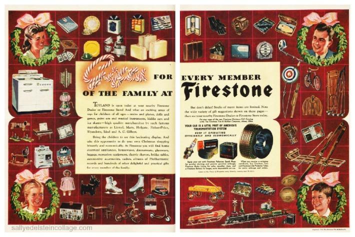 Vintage Ad Xmas Firestone 1942