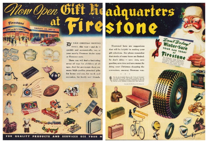 Vintage Ad Xmas gifts  Firestone 1944