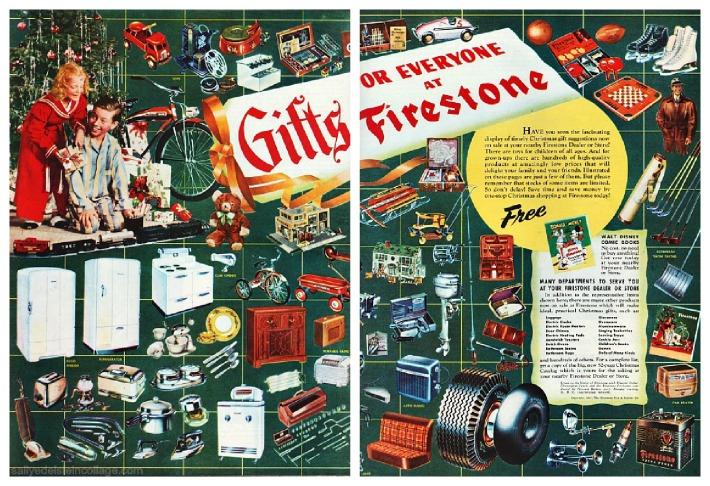 Vintage Ad Xmas gifts Firestone 1947