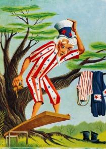 illustration Uncle Sam 1950s