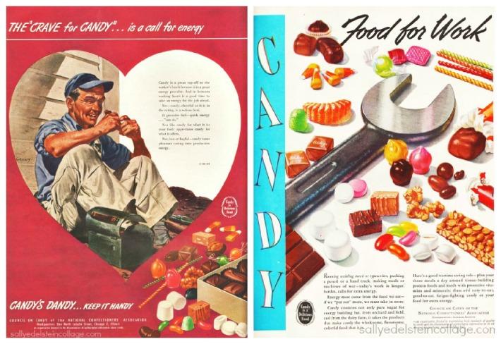 vintage candy ads 1946
