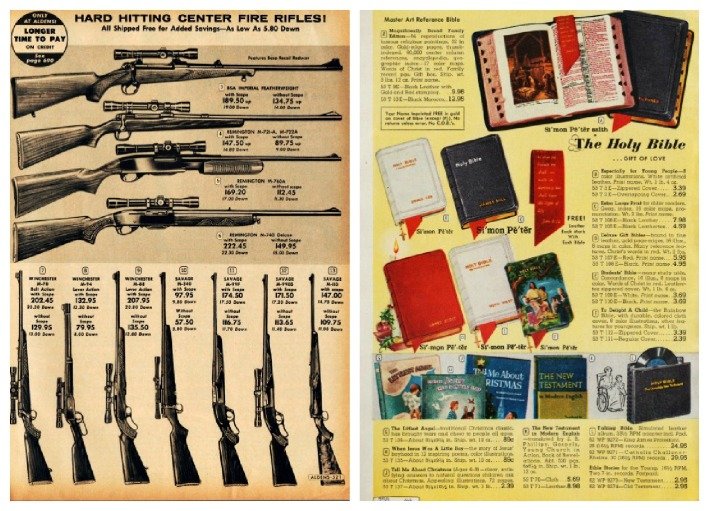 vintage catalog pages guns and bibles