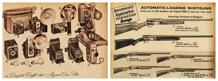 vintage catalogue  guns cameras 1950s