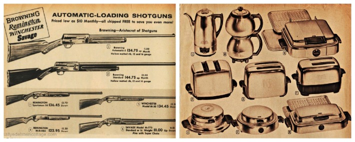 vintage gift catalog guns kitchen appliances
