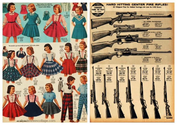Vintage Xmas catalogue guns dresses