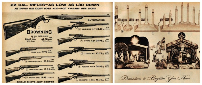 vintage catalog guns nativity scene