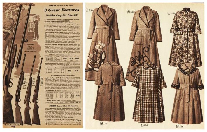 vintage Xmas catalog guns robes